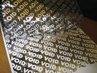 Silver Void Tape